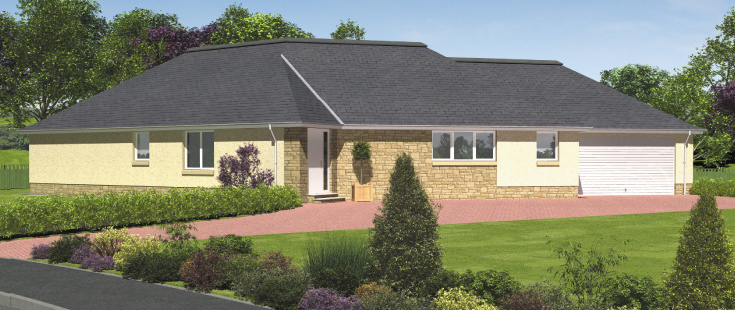 Hartfell homes moffat new build houses 2 3 4 double for New build 2 bedroom house