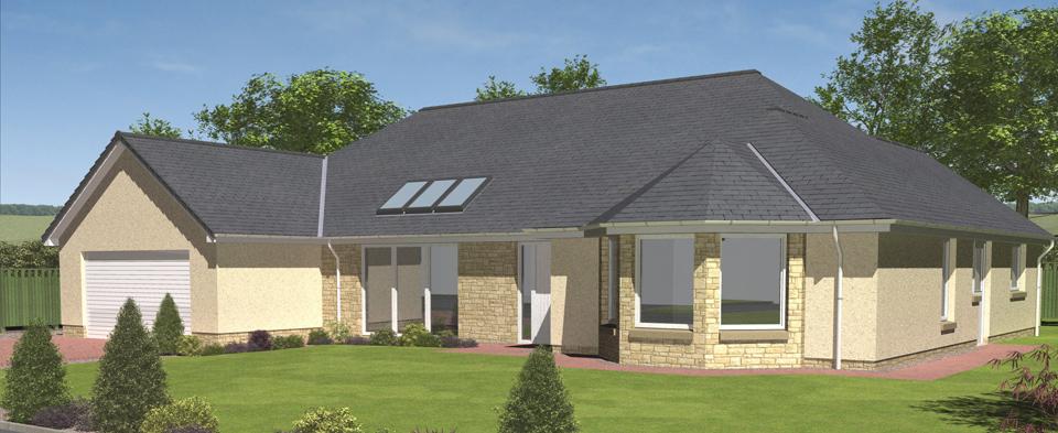 Hartfell homes ettrick bungalow new build elegant for Bungalow designs uk