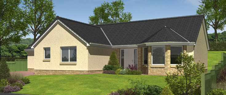 Hartfell homes moffat new build houses 2 3 4 double for New build 4 bed house